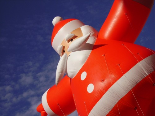 Santa Claus as a huge balloon